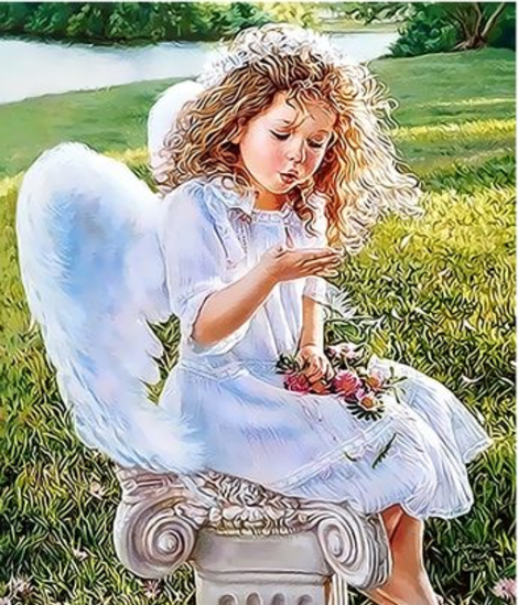Angel Diy Paint By Numbers Kits For Adults UK PO0169