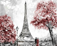 Eiffel Tower Landscape Paint By Numbers Kits LS267
