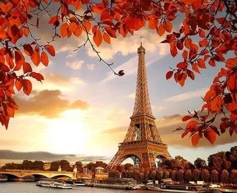 Landscape Eiffel Tower Diy Paint By Numbers Kits LS268