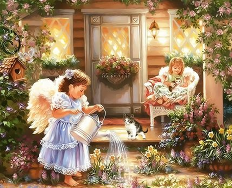 Angel Diy Paint By Numbers Kits UK PO0194