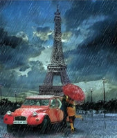 Eiffel Tower Diy Car Paint By Numbers Kits LS281