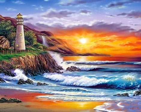 Lighthouse Diy Paint By Numbers Kits UK BU0028