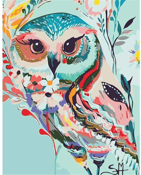 Owl Diy Paint By Numbers Kits Uk PBN90547