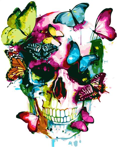 Skull Diy Paint By Numbers Kits UK PP0040