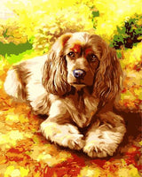 Flower Dog Diy Paint By Numbers Kits UK PE0060