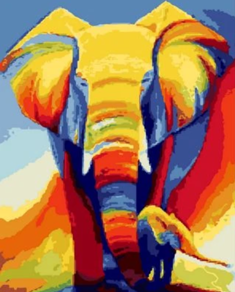 Animal Elephant Diy Paint By Numbers Kits UK AN0231