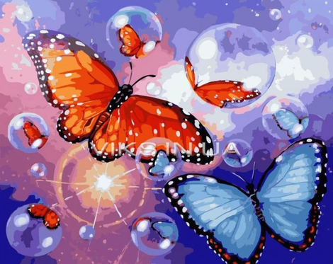 Butterfly Diy Paint By Numbers Kits UK FK297
