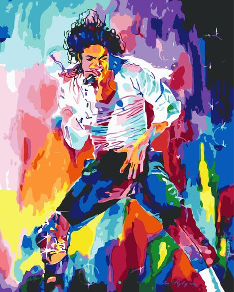Michael Jackson Diy Paint By Numbers Kits UK PO0130