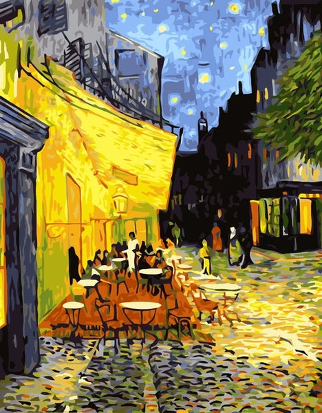 Van Gogh Diy Street Abstract Paint By Numbers Kits UK LS049