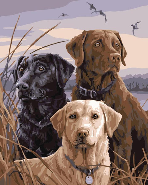 Best Oil Painting Style Pet Dog Diy Paint By Numbers Kits UK PE0095