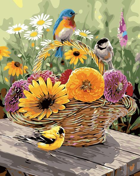 Bird Diy Paint By Numbers Kits UK FA0069