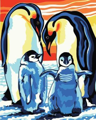 Penguin Diy Paint By Numbers Kits UK AN0207