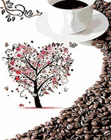 Diy Coffee Paint By Numbers Kits FD205