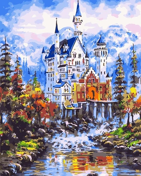 Landscape Castle Paint By Numbers Kits UK BU0062
