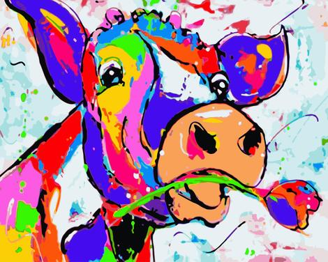 Cow Diy Paint By Numbers Kits UK AN0500
