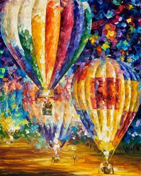 Hot Air Balloon Diy Paint By Numbers Kits UK PP0035