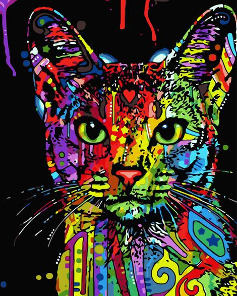 Pop Art Cat Diy Paint By Numbers Kits UK PE0006