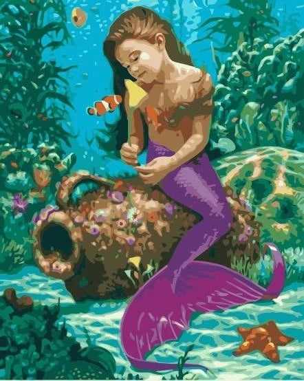 Mermaid Paint By Numbers Kits Diy UK MA163