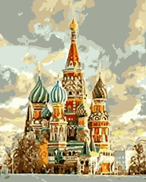 Landscape Castle Building Diy Paint By Numbers Kits UK BU0095