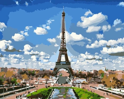 Eiffel Tower Diy Paint By Numbers Kits LS287