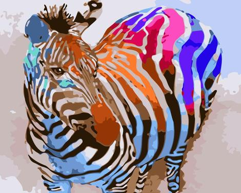 Zebra Diy Paint By Numbers Kits UK AN0797