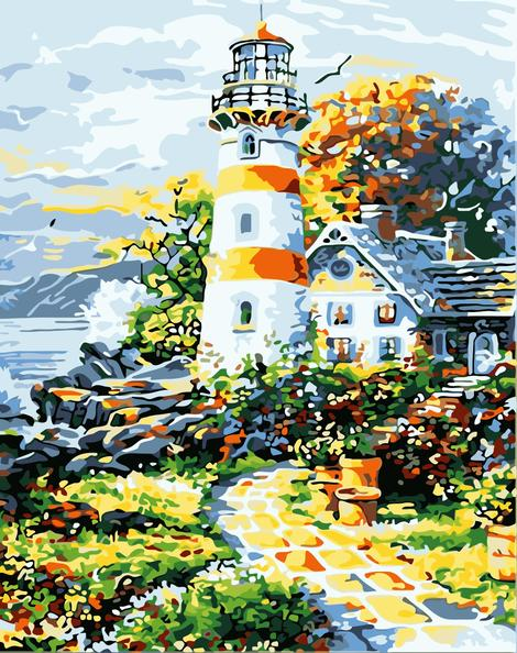 Lighthouse Diy Paint By Numbers Kits UK BU0018