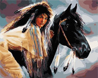 Beauty And Horse Diy Paint By Numbers Kits UK PO0364