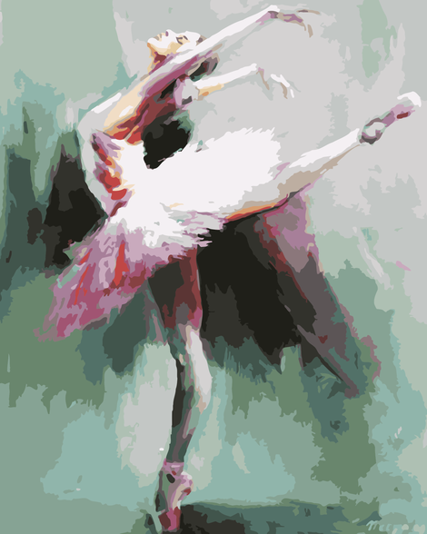 Dancer Diy Paint By Numbers Kits UK PO0392