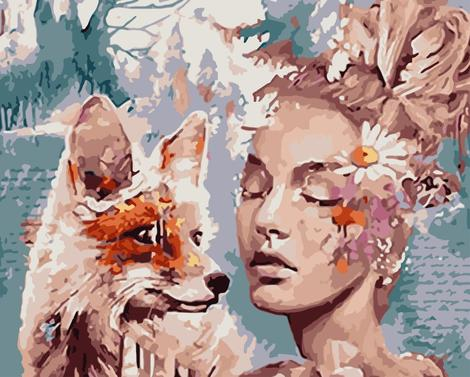 Beauty And Animal Diy Paint By Numbers Kits UK PO0334