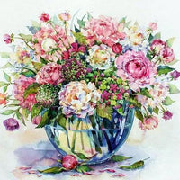 Flower Diy Paint By Numbers Kits UK PP0023