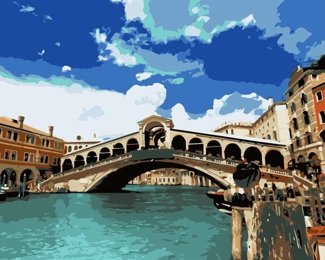 Landscape Venice Bridge Diy Paint By Numbers Kits LS320