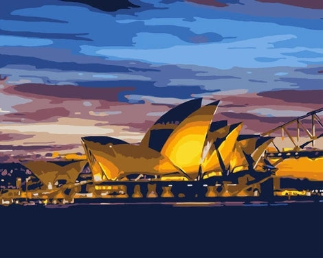 Sydney Opera House City Diy Paint By Numbers Kits LS378