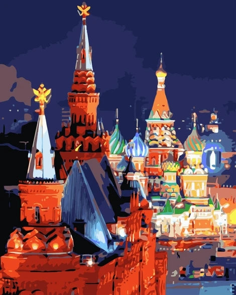 Moscow Diy Paint By Numbers Kits LS359