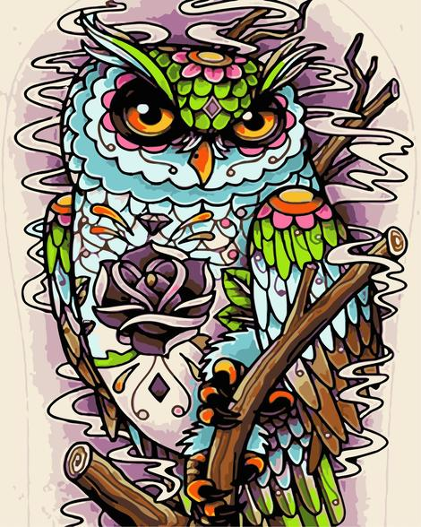 Owl Diy Paint By Numbers Kits UK FA0064