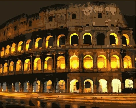 Colosseum Diy Paint By Numbers Kits LS377
