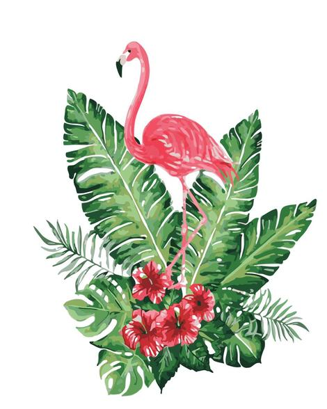 Flamingo Diy Paint By Numbers Kits UK AN0176