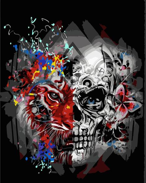Skull Diy Paint By Numbers Kits UK PP0042
