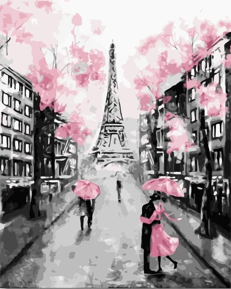 Eiffel Tower Paint By Numbers Kits UK LS004