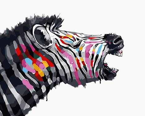 Zebra Diy Paint By Numbers Kits UK AN0784