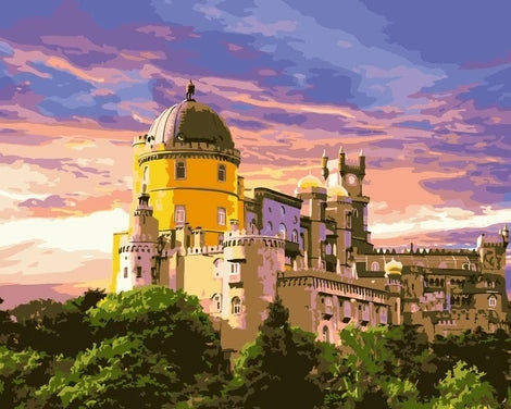 Landscape Castle Building Diy Paint By Numbers Kits UK BU0061