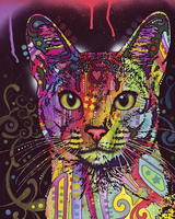 Pet Colorful Cat Diy Paint By Numbers Kits UK PE0021