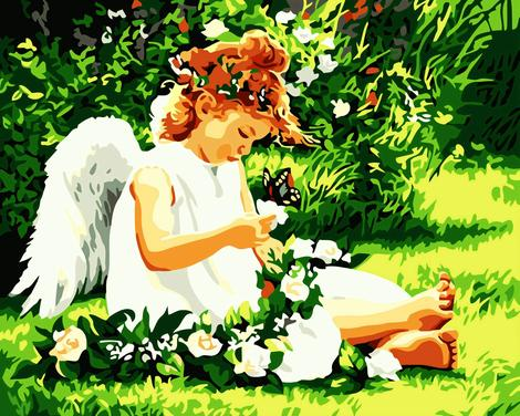Angel Diy Paint By Numbers Kits For Adults UK PO0150