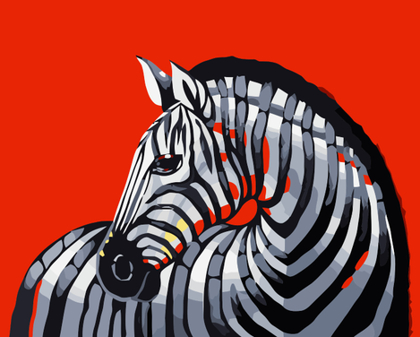 Zebra Diy Paint By Numbers Kits UK AN0800