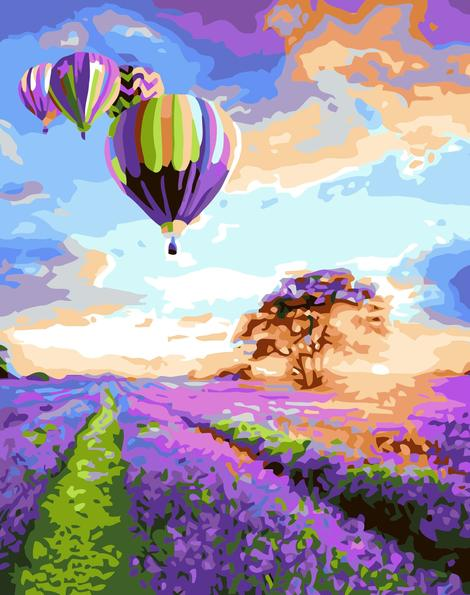 Hot Air Balloon Diy Paint By Numbers Kits UK PP0036