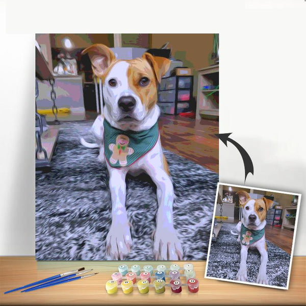 Personality Photo DIY Custom Paint By Numbers For Dog, CDP0003