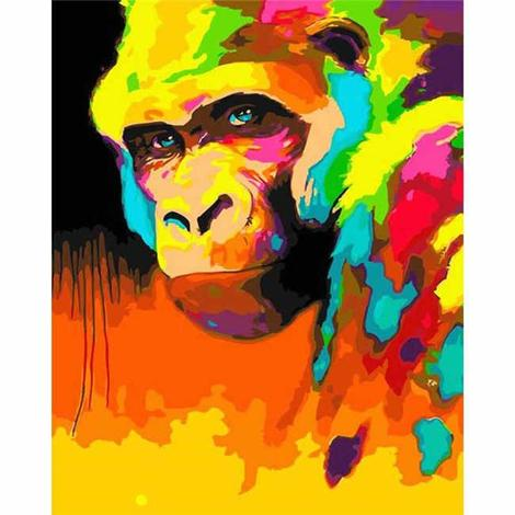 Monkey Diy Paint By Numbers Kits UK AN0848