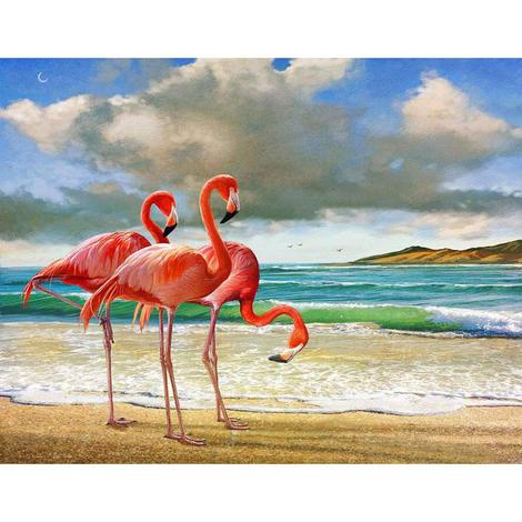 Flamingos Diy Paint By Numbers UK AN0177