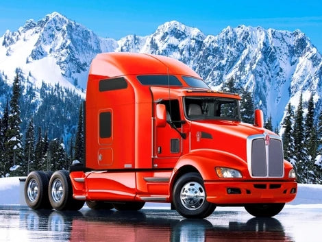Snow Truck Diy Paint By Numbers Kits UK VE0073