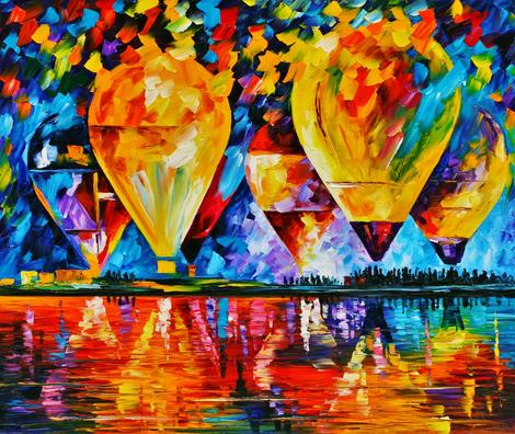 Hot Air Balloon Diy Paint By Numbers Kits UK PP0166