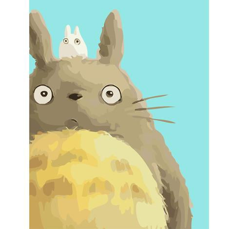 The Totoro Series Cartoon Diy Paint By Numbers Kits UK FK395